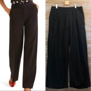 Boden Olivia Wide Leg Black Trousers Sz 8P